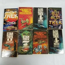 Lot of 8 vintage paperback star trek books from 1971-1996 - $49.97
