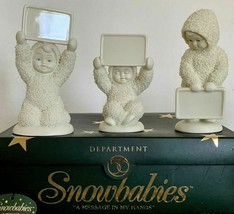 """SNOWBABIES """"A MESSAGE IN MY HANDS"""" Set Of 3 Dept 56 Personalize Retired ... - $19.59"""