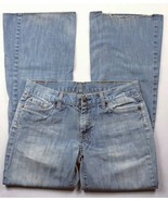7 For All Mankind Womens Jeans Size 28 Dojo Flare Leg Light Wash - $32.49