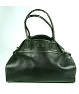 Tods Girelli Classic Black Leather Large Slouchy Hobo Tote Shopper Bag - $189.52