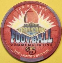 $5 Casino Chip. Tropicana, Las Vegas, NV. Superbowl 1996. S04. - $6.50
