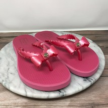 NEW Kate Spade Denise Womens Size 7 Pink Bow Accent Flip Flop Sandals - $30.95