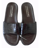 NEW DONALD J. PLINER 8 sandals slides shoes moc croc leather Italy Frutt... - $81.47