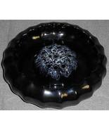 Vintage VAN BRIGGLE Black/White FLOWER BOWL w/FLOWER FROG 2 pc SET Colorado - $79.19