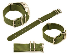 20mm  watch band  FITS Luminox watches GREEN Nylon Woven 4 Rings WITH ST... - $15.95