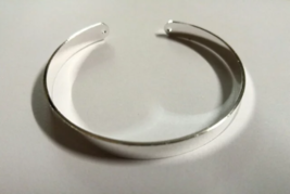 Cuff Bracelet Blank Bangle Silver Plated Connector Holes Metal Stamping ... - $2.93