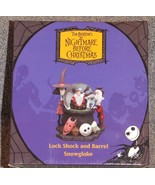 Nightmare Before Christmas Lock Shock & Barrel Snowglobe New In The Box - $79.99