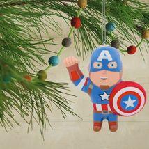 Hallmark Marvel Captain America Decoupage Shatterproof Christmas Tree Ornament image 4