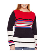 Liz Claiborne Striped Sequined Pullover Sweater Plus Size 1X New Msrp $5... - $24.99