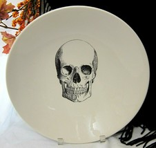"Halloween Victorian English Pottery Serving Bowl Mr Skull XL 13.50"" - $37.61"