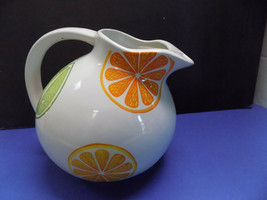 STARBUCKS 2004 CERAMIC 2.5 Quart PITCHER SUMMERTIME LEMONADE LIMEADE ICE... - $28.50