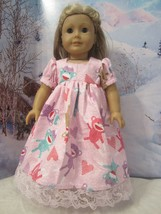 """homemade 18"""" american girl/madame alexander sock monkey nightgown doll clothes - $19.60"""