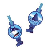Shark Splash Blow Outs/Noise Maker (8 Ct) - FREE Shipping! - ₨560.58 INR