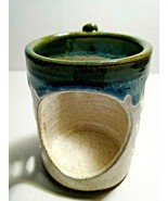 Indian Mountain Candle Holder Signed By Watts Beautiful Blue, Brown, Cream  - $23.75
