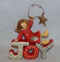 Kurt Adler Christmas Angel JOY Figurine - $14.85