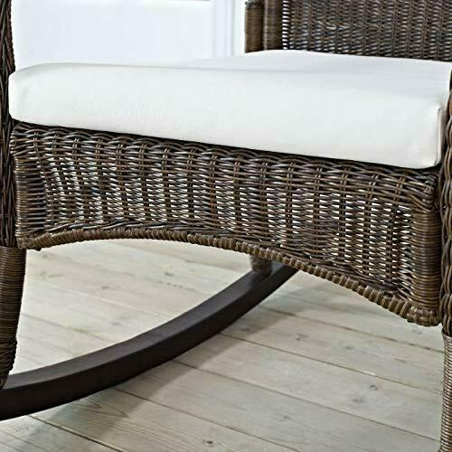 Classic Traditional Country Brown Resin Wicker Patio Rocking Chair Outdoor Porch image 3
