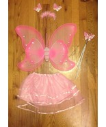 Girl Toddler Pink Butterfly Fairy Princess Cute Halloween Costume 2-3 Yr... - $9.89