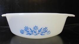 Fire King Anchor Hocking Blue Cornflower 1 Quart Round Casserole Dish  - $14.50
