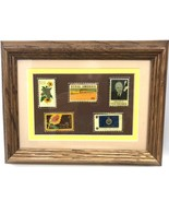 Enamel Stamp Pins Set of 5 FRAMED & MATTED STATE of KANSAS Souvenir KS - $44.99