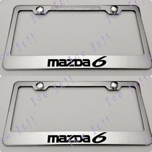 2X Mazda 6 Stainless Steel License Plate Frame Rust Free W/ Caps - $22.76