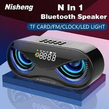 M6 Cool Owl Design Bluetooth Speaker LED Flash Wireless Loudspeaker FM R... - $30.17 CAD