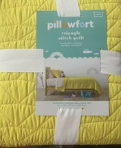 Pillowfort Triangle Stitch Yellow Twin Quilt - $28.70