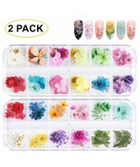 Gotone 108Pcs Dried Flowers 3D Nail Art Stickers Decoration Diy Preserve... - $17.81