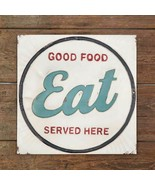 Retro EAT GOOD FOOD SERVED HERE METAL SIGN PLAQUE Country Vintage Reproduction - £36.52 GBP