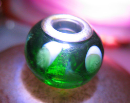 Haunted 3x Cast Bead Wealth Money Magick Green Witch Cassia4 - $22.00