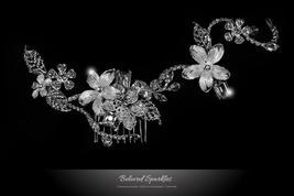 Helen Flower Garden Hair Comb | Swarovski Crystal - $89.95