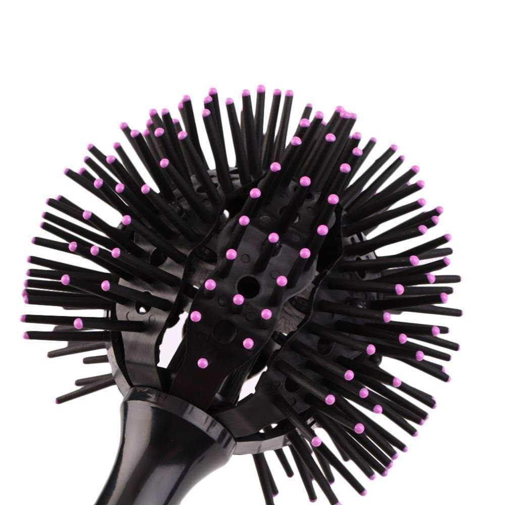 360 Round Hair Brush Detangling Ball Comb Head Massage Hairdressing Styling Tool