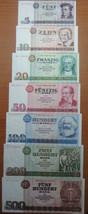 EAST GERMANY GDR 7 BANKNOTES SET 1971-1985 UNC RARE NO RESERVE - $186.61