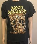Amon Amarth Swedish Metal Band Graphic Short Sleeve Shirt Medium Black G... - $21.28