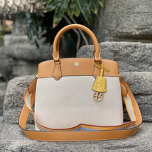 Tory Burch Robinson Canvas Triple-Compartment Tote - $390.00