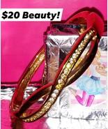 Vintage Roman (stamped) gold tone/diamonds hinged Infinity Bangle $20 - $20.00