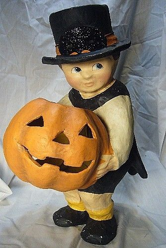 Bethany Lowe Halloween Pumpkin Surprise Boy  Large