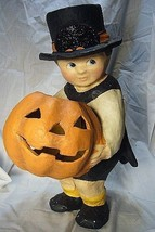 Bethany Lowe Halloween Pumpkin Surprise Boy  Large - £75.99 GBP