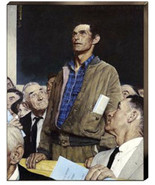 Freedom Of Speech Norman Rockwell Making a Speech Canvas Giclee 24x30 - $286.11
