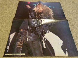 Sebastian Bach teen magazine poster clipping Rockline leather jacket Ski... - $5.00