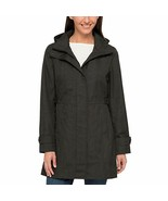 Kirkland Signature Ladies' Trench Coat, Black Charcoal - Medium - NEW - $89.99