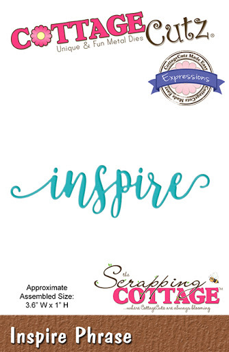 Inspire. Cottage Cutz Die. Card Making. Scrapbooking CLEARANCE