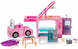 Barbie Caravan For Camping 3 IN 1 Of Barbie With Pool, Van, Barca And 50 - $362.69
