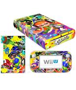 Nintendo Wii U Console Skin Splatoon Vinyl Skin... - $12.00