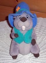 "Winnie Pooh Plush 8"" Star Bean Mattel High Country Gray Gopher in Hat & Vest - $8.29"