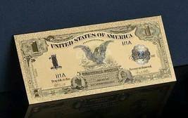 """<>1899 """"GOLD""""$1 Silver Certificate Black Eagle Rep.*Banknote W/COA~STUNNI - $12.08"""