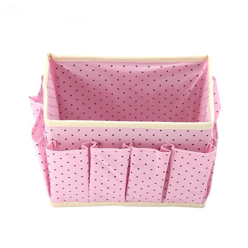 Desktop Cosmetic Storage Organizer Box Makeup Holder Case Basket Drawer Boxes