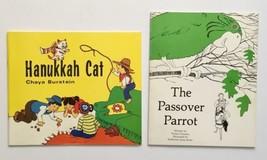 The Passover Parrot & Hanukkah Cat Picture Books Zusman Burstein Jewish ... - $9.89