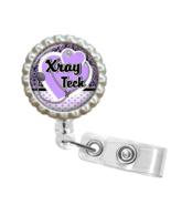 Purple X-Ray Tech Retractable Reel ID Name Tag Badge Holder - 1.5 - $10.00