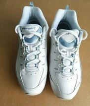 Easy-Spirit Women's White Regine Walking Shoes, Lace Top Sneakers US 7½ Wide - $34.65