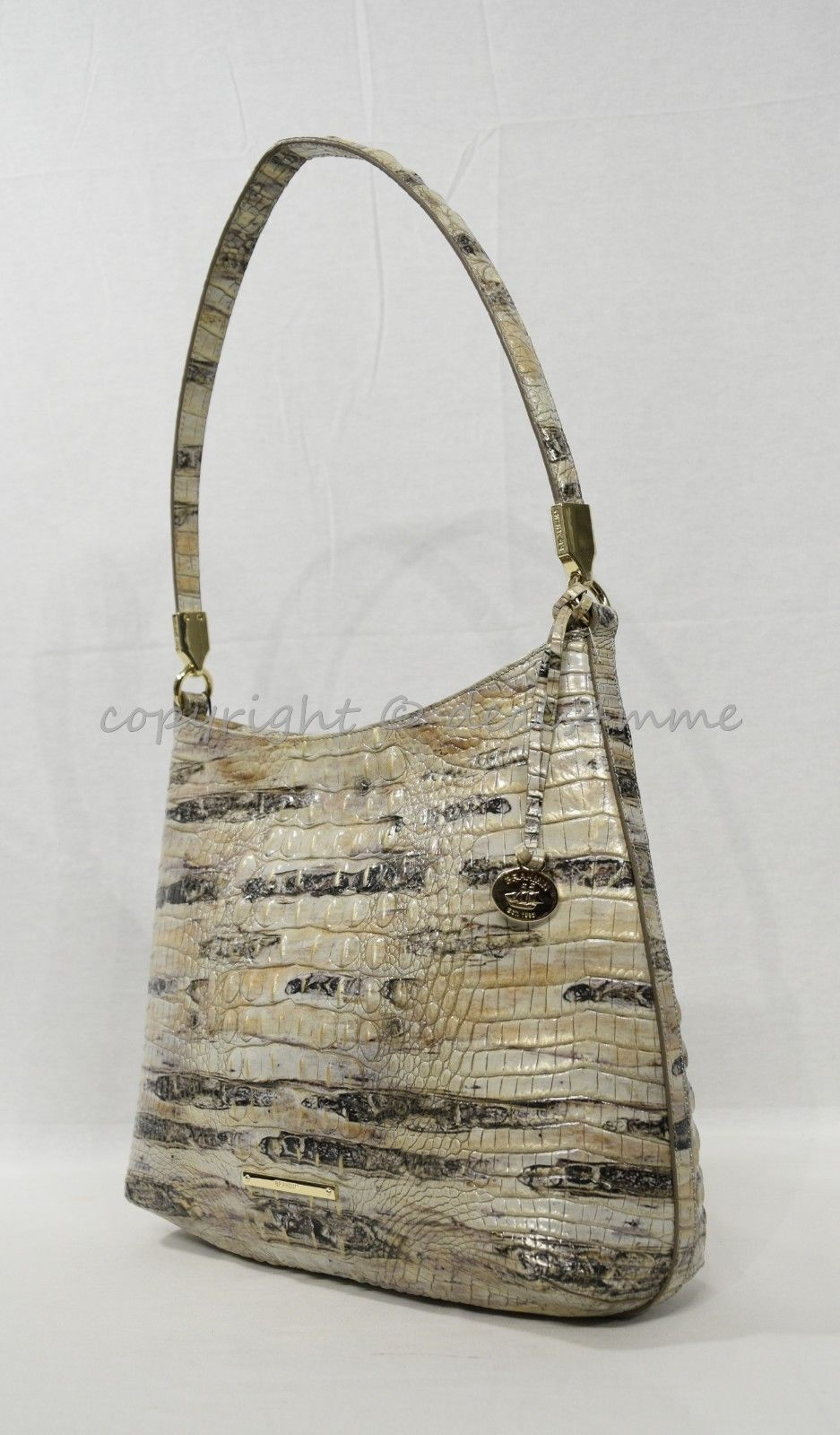 NWT Brahmin Farrah Leather Tote / Shoulder Bag in Sandalwood Melbourne